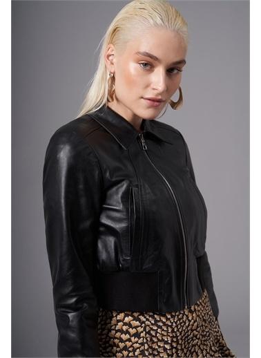 Deri Company Kadın Hakiki (Gerçek) Deri Mont Rosa Siyah 211529 Siyah